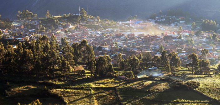 Vista de la ciudad de Huanca Sancos